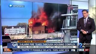 Massive fire tears through Greenbelt housing complex