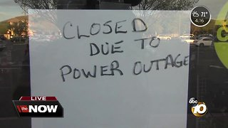 Businesses dealing with power outages in East County