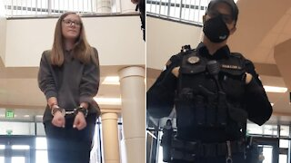 WATCH: 16-Year-Old Wyoming Student Arrested For Not Wearing Mask, Entire School Placed On Lockdown