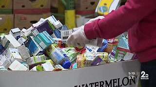 First-time volunteers help fill a void at the Maryland Food Bank