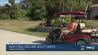 Golf cart thefts on the rise