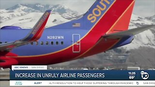 Increase in unruly airline passengers
