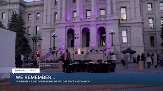 Colorado holding 'evening of remembrance' Friday to mark one year since first COVID case