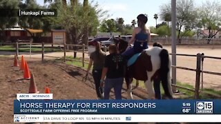 Free horse therapy for first responders