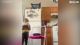 """Cookie nearly tempts little girl to fail """"Don't Eat It Challenge"""""""