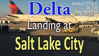 Delta flight DL735 Landing at Salt Lake City
