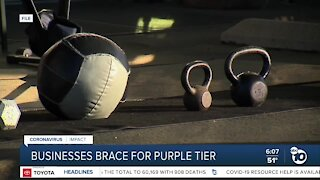 San Diego County businesses brace for move into purple tier