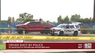 Driver shoots at Glendale police