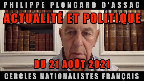 Actualité et politique du 21 Août 2021