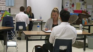 Students get training for job interviews