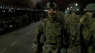 National Guardsmen provide security and traffic control