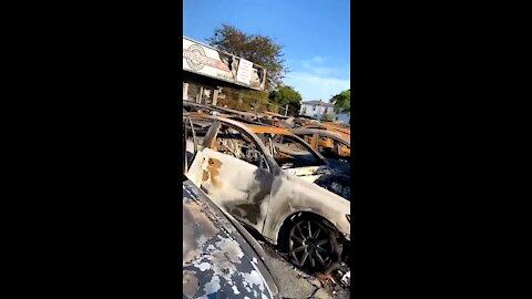 Car Dealership Looks Like Third World Country After Kenosha Riots