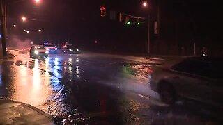Water main break closes left two lanes of Cedar Hill