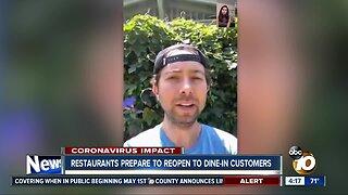 Restaurants prepare to reopen to dine-in customers