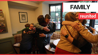 Family reunited after winning a competition