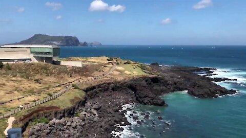 Beautiful Jeju island & sea in South Korea