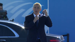 NATO Secretary General arrives at NATO Summit