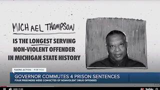Michigan Governor Whitmer commutes 4 prison sentences