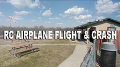 RC Airplane Flight & Crash
