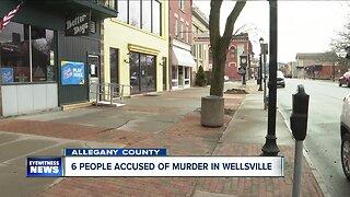 Six people accused of murder in Wellsville