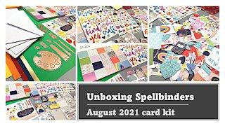 UNBOXING Spellbinders August 2021 card kit | Art School