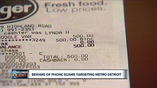 Beware of phone scams targeting metro Detroit