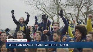 Michigan explains reason to cancel Ohio State game