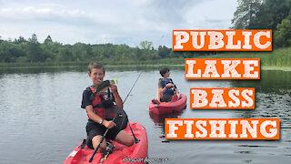 S2:E27 Public Lake Bass Fishing   Kids Outdoors