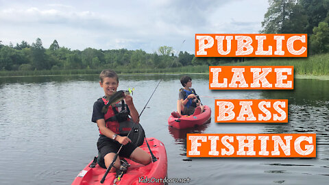 S2:E27 Public Lake Bass Fishing | Kids Outdoors