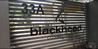 Media gather outside Blackhead Consulting HQ