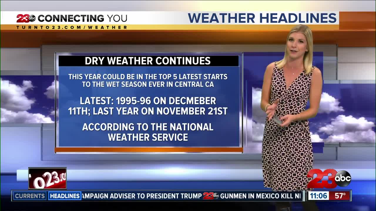 Dry and warm conditions continue all week