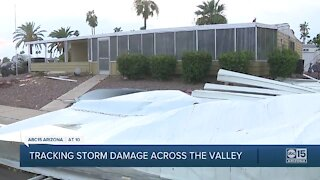 Tracking storm damage across the Valley
