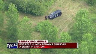 Possible human remains found in sewer in Canton