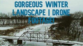 GORGEOUS WINTER SCENE / INDIANA SNOW LANDSCAPE / DRONE VIDEO
