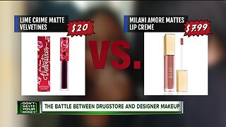 The battle between drugstore and designer makeup