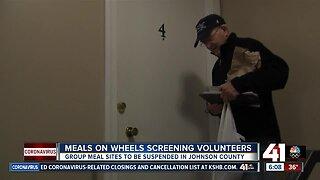 Meals on Wheels screening volunteers