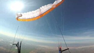 Paraglider loses control mid-flight