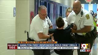 Hamilton first responders hold school shooter drill