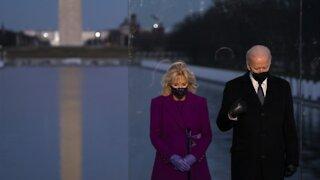 Biden, Harris Attend COVID Memorial