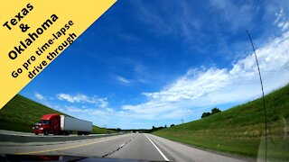 Cruising through Texas and Oklahoma go pro Camera time-lapse