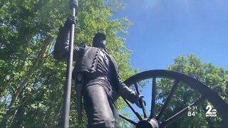 Confederate statue vandalized in Anne Arundel County
