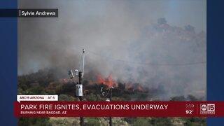 Park Fire ignites, evacuations underway