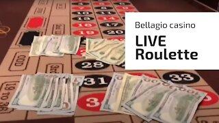 Live roulette in Bellagio Casino in Las Vegas