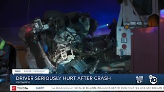Driver ejected, injured after wrong-way crash on I-15
