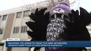 Ravens celebrate healthcare workers