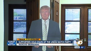 Trump supporters hold State of the Union watch party