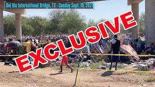 WATCH: Exclusive video of Del Rio border crisis, encampment, perilous river crossing