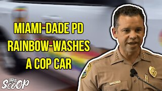 Miami-Dade Police Department Rainbow-Washes A Police Vehicles
