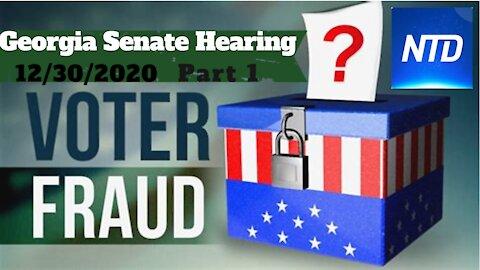 Giuliani Presents Whistleblowers at Georgia Election Fraud Committee - PART 1 - Dec-30 NTD News