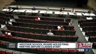 Westside School Board holds final meeting before classes start